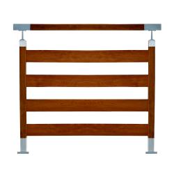 Balustrada model TORONTO w efekcie drewna złoty dąb