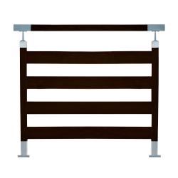 Balustrada model TORONTO w efekcie drewna mahoń