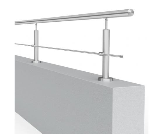 Balustrada model ATLANTA MGN1I nierdzewna, wysokość 25 - 38 cm