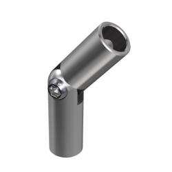 Kształtka przegubowa (od -90° do +90°) dla Ø12 mm, AISI 304, szlifowana