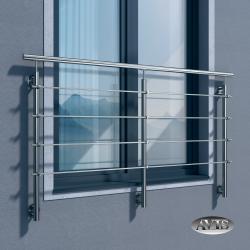 Balkon francuski ZULU III, AISI 316, szlifowany