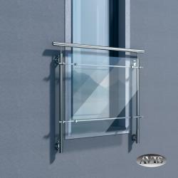 Balkon francuski ALFA II, AISI 304, szlifowany