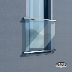 Balkon francuski FOXTROT II, AISI 316/Aluminium, szlifowany