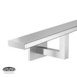 Poręcz 40 x 10 mm, wsporniki model S112, AISI 304, szlifowana