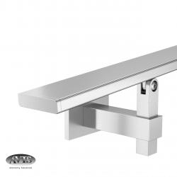 Poręcz 40 x 10 mm, wsporniki model 4145, AISI 304, szlifowana
