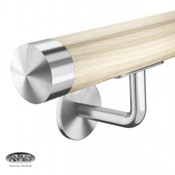 Poręcz Ø42,0 mm, wsporniki model S112, drewno bukowe + lakier