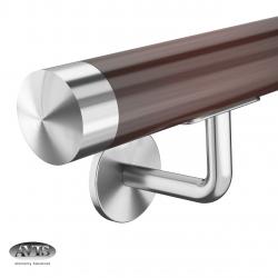Poręcz Ø42,0 mm, wsporniki model S111, drewno dębowe, bejca + lakier