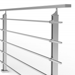 Balustrada model BOSTON MGA5I aluminiowa, wys. 101 cm, 5 x 14 x 14 mm, efekt stali nierdzewnej